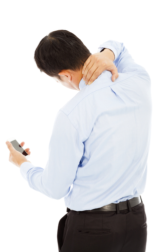 כאבי צוואר - טלפון סלולרי