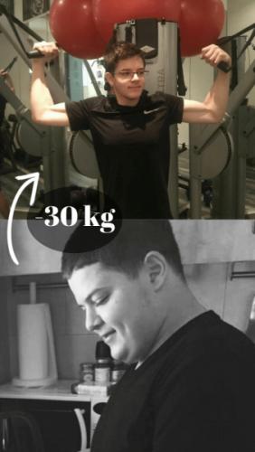 """התאמן פעמיים בשבוע עם מאמן כושר אישי וירד 30 ק""""ג בשנתיים"""